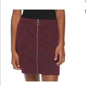 Candies zip up mini skirt